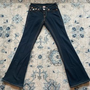"True Religion Black ""Jeans"" in Sweatpants Material"